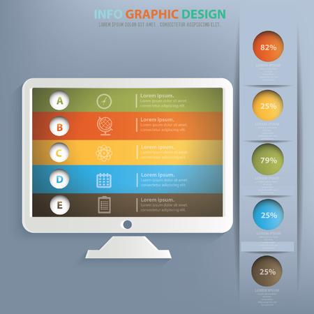 flatscreen: Monitor concept design,vector