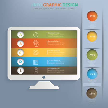 Monitor concept design,vector