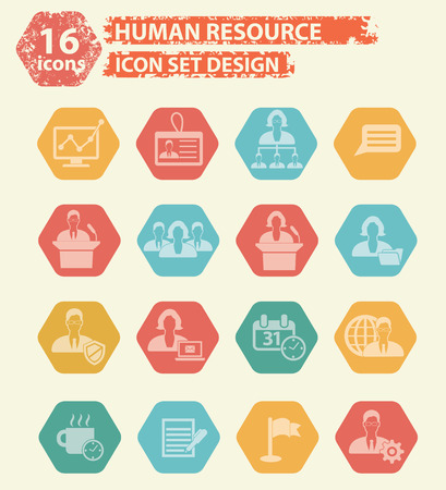 contracting: Human resource icon concept  design,vector Illustration