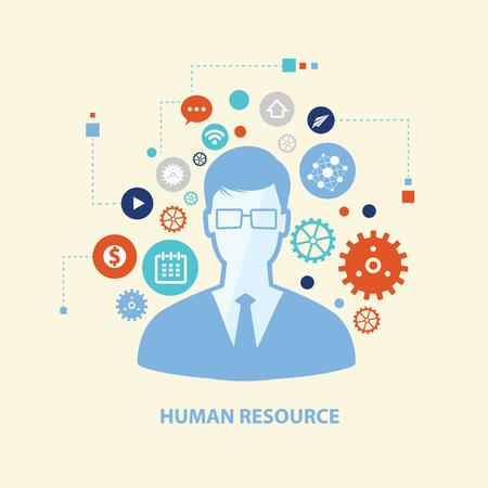 human resource: Human resource concept design,vector