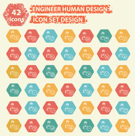habiliment: Engineering human concept design,vector