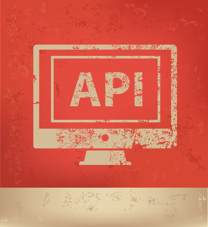 api: API concept design,vector Illustration