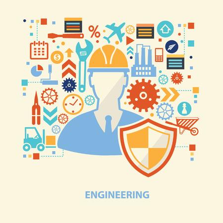 conveyor system: Engineer concept design,vector