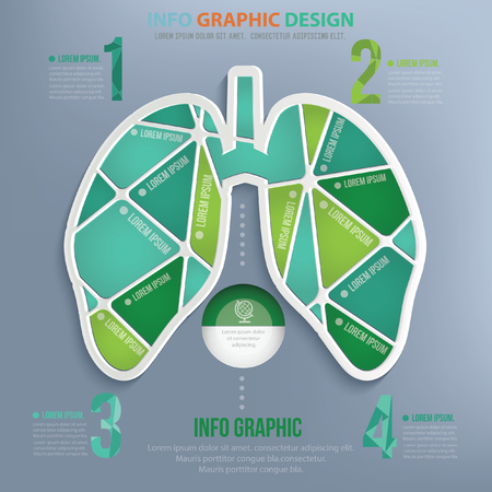 flue: Lung design,vector