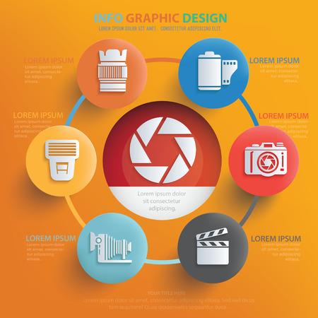 polarizing: Photography design,vector Illustration