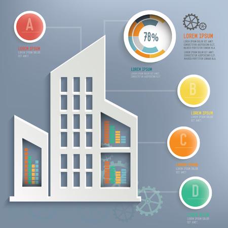 construction firm: Real estate design,vector Illustration