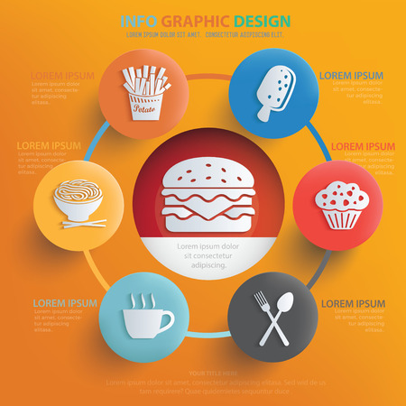 continental food: Food and drink design,vector Illustration