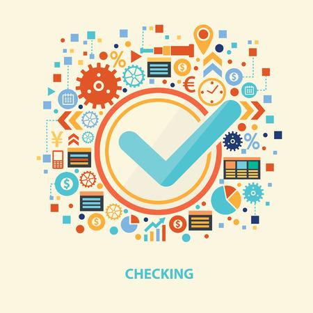 voting box: Checking design,vector
