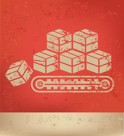 crisper: Cargo,box design,vector