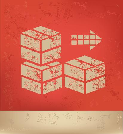 conveyer: Box,cargo design,vector Illustration