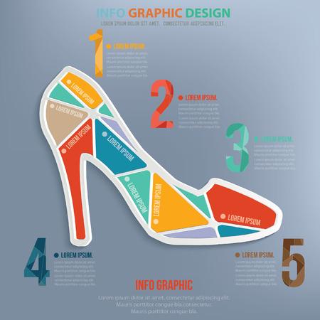 ladies shoes: Shoe design,vector