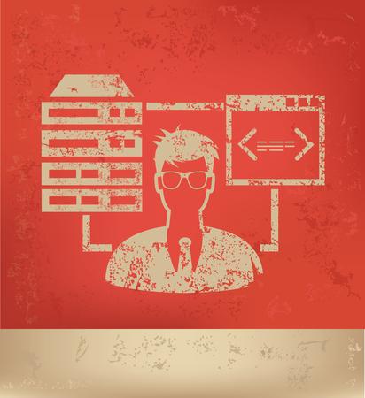 admin: Admin database design,vector Illustration