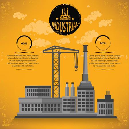 hazardous to the environment: Industry,construction design,vector