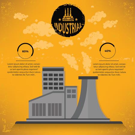 smokestack: Industry design,vector
