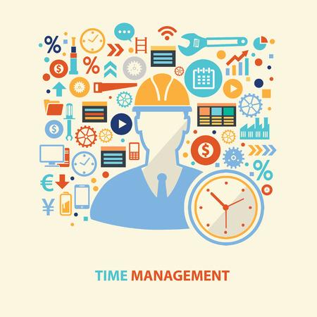 Zeitmanagement Design, Vektor