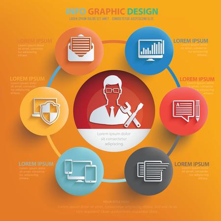 ADMIN: Admin,data content design,vector