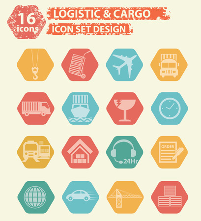 package printing: Logistic and cargo icon design,vector