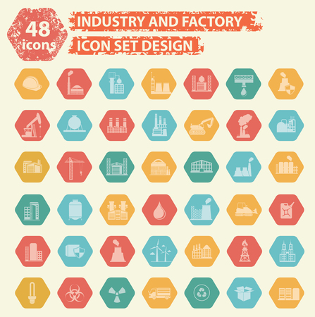 coal power station: Industry icons design,vector Illustration