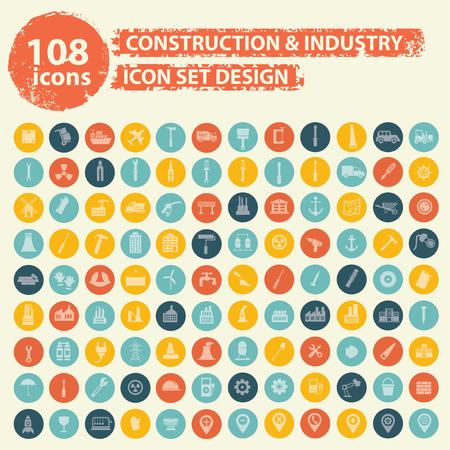 Iconos de la construcción el diseño, vector