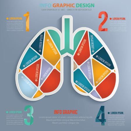 Lung design,vector