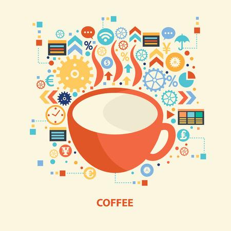 Coffee design,vector Иллюстрация