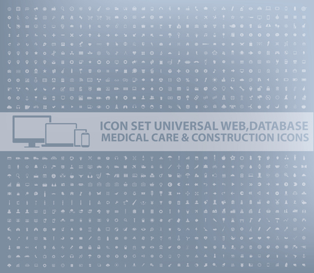 Big icon set,business,web,database,medical,construction design,vector Çizim