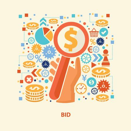 bid: diseño de una oferta, vector Vectores