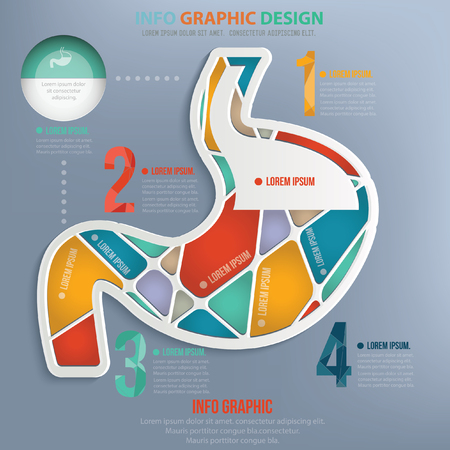 diarrhea illustration: Stomach design,vector