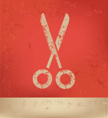 coiffure: Scissor design,vector Illustration