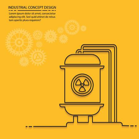 hazardous to the environment: Tank industry design,vector