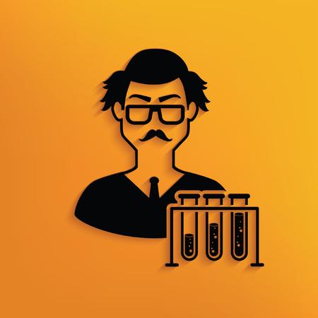 savant: Scientist design,vector Illustration