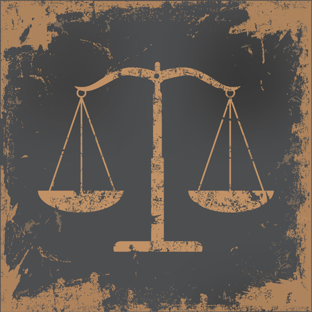 scale of justice: Justice scale concept design,vector