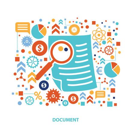 Document conceptontwerp, vector Vector Illustratie