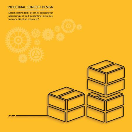 stockpile: Box,cargo concept design,vector