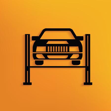 pilgrimage: Car service concept design,vector