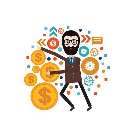 office team: businessman concept design,vector