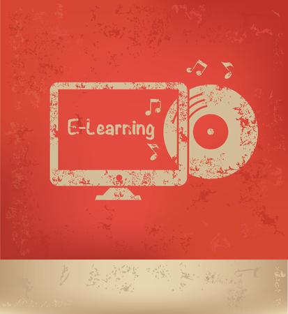 lore: E-learning concept design,vector