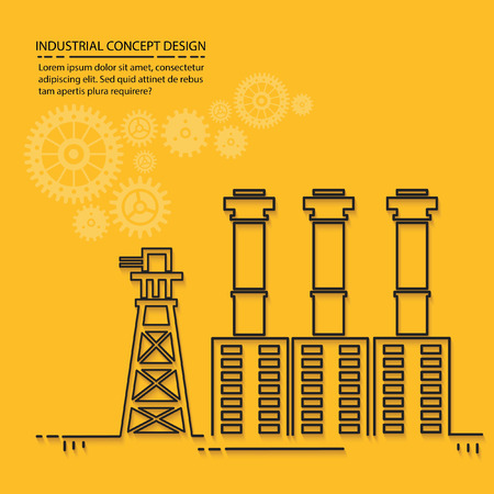 coal power station: Industry concept design,vector