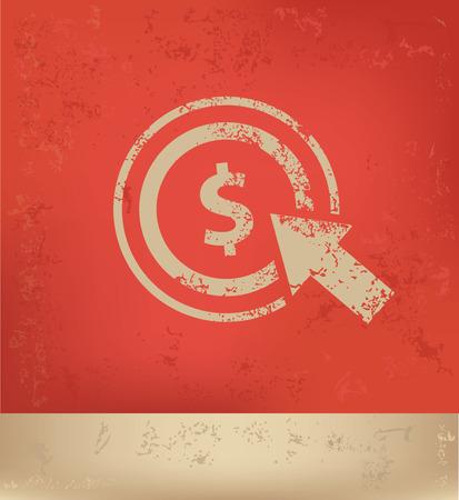 metrics: Pay per click concept design,vector