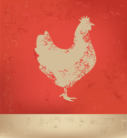 chuck: Chicken concept design,vector
