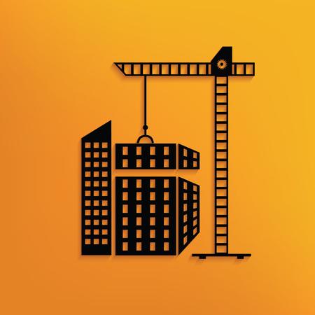 building construction: Building,construction concept design,vector
