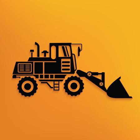 compact track loader: Construction car concept design,vector Illustration