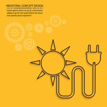 sun energy: Sun energy concept design,vector