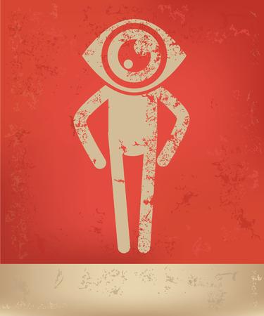 human eye: Eye human concept design,vector