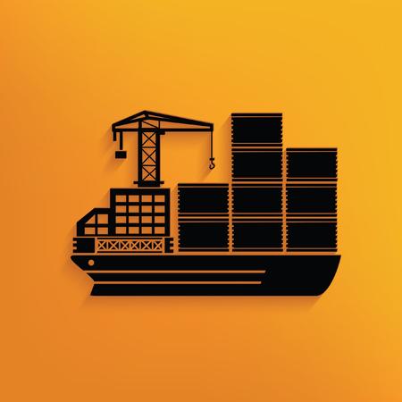 inter: Container ship concept design,vector