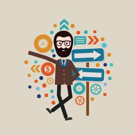 workaholic: Businessman concept design,vector