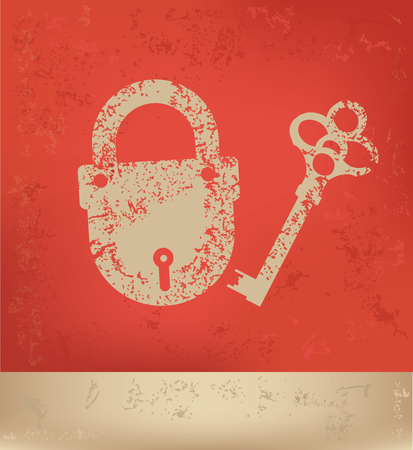 lock and key: Lock,key concept design,vector