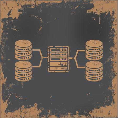 database concept: Database concept design,vector Illustration