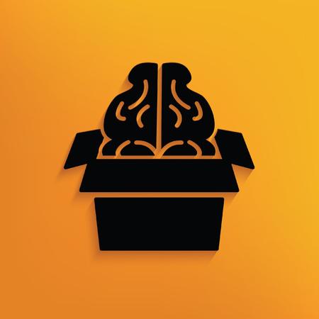 iq: Brain concept design,vector