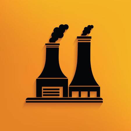 hazardous to the environment: Industry concept design,vector